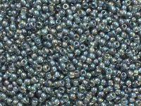 TOHO Round 11o-1820 Inside-Color Rainbow Gray - Opaque Gray Lined - 10 g