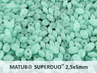 SuperDuo 2.5x5mm Matte Opal Green Aqua - 10 g