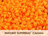SuperDuo 2.5x5mm Matte Opal Orange - 10 g