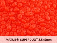 SuperDuo 2.5x5mm Matte Opal Light Red - 10 g