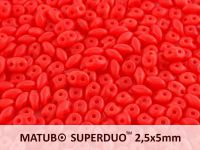 SuperDuo 2.5x5mm Matte Opal Red - 10 g