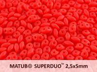SuperDuo 2.5x5mm Matte Opal Red - 10 g