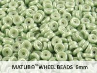 Wheel Beads Luster - Metallic Lt Green 6mm - 5 g