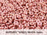 Wheel Beads Luster - Metallic Pink 6mm - 5 g