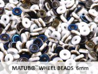 Wheel Beads White Azuro 6mm - 5 g