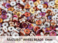Wheel Beads White Sliperit 6mm - 5 g