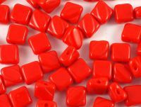 Silky Beads 6mm Opaque Lt Red - 20 sztuk