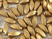 Twist Beads Matte Metallic Flax 12x6mm - 10 sztuk