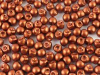 Mushroom Beads Matte Metallic Dark Copper 6x5mm - 10 g