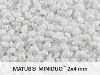 miniDUO 2x4mm Luster White - 5 g