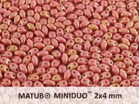 miniDUO 2x4mm Luster - Metallic Pink - 5 g