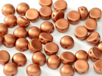 2-hole Cabochon Satin Metallic Bronze 6mm - 2 sztuki