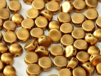 2-hole Cabochon Satin Metallic Brass 6mm - 2 sztuki