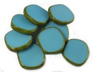 Table Cut Disk Blue Turquoise - Picasso 22 mm - 1 szt