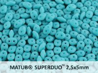 SuperDuo 2.5x5mm Matte Ancient Turquoise - 10 g