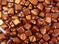 Silky Beads 6mm Matte Metallic Dark Copper - 20 sztuk