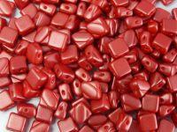 Silky Beads 6mm Pastel Dk Coral - 20 sztuk