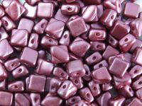 Silky Beads 6mm Pastel Burgundy - 20 sztuk