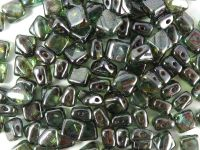 Silky Beads 6mm Luster Transparent Green Picasso - 20 sztuk