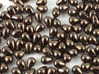 Puffy Teardrops Metallic Bronze 6x4mm - 20 sztuk