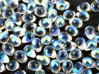 Teardrops Crystal AB 7x5mm - 20 sztuk