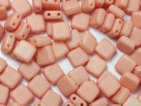 Squares 6mm Opaque Light Peach Silk Mat - 20 sztuk
