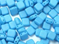 Squares 6mm Aquamarine Silk Mat - 20 sztuk
