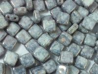 Squares 6mm Alabaster Blue Terracotta - 20 sztuk