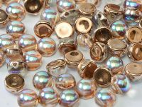 2-hole Cabochon Crystal Copper Rainbow 6mm - 2 sztuki