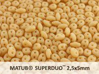 SuperDuo 2.5x5mm Matte Ivory - 10 g