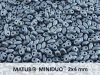 miniDUO 2x4mm Jet White Iris Matted - 5 g