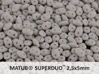 SuperDuo 2.5x5mm Opaque Grey Matte - 10 g