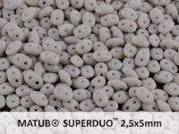 SuperDuo 2.5x5mm Opaque Grey Matte - 10 g