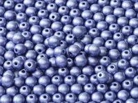 Round Beads Satin Metallic Tanzanite 6 mm - 20 sztuk