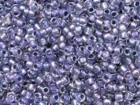 TOHO Round 8o-265 Inside-Color Rainbow Crystal - Metallic Purple Lined - 10 g