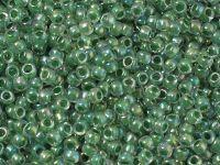 TOHO Round 8o-699 Inside-Color Rainbow Crystal - Shamrock Lined - 10 g