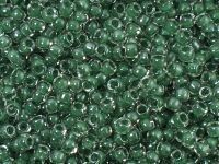 TOHO Round 8o-1070 Inside-Color Crystal - Emerald Lined - 10 g