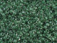 TOHO Round 8o-1070 Inside-Color Crystal - Emerald Lined - 10 g