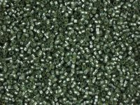 Miyuki Delica DB0689 Semi-Matte Silver Lined Light Grey Green Dyed - 5 g