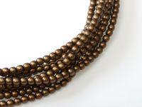 Perełki szklane palisander satynowe 2 mm - sznur
