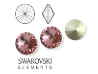 Rivoli Swarovski 12 mm Blush Rose F - 1 sztuka