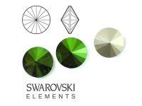 Rivoli Swarovski 12 mm Crystal Scarabaeus Green F - 1 sztuka