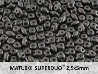 SuperDuo 2.5x5mm Satin Metallic Black - 10 g