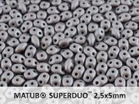 SuperDuo 2.5x5mm Satin Metallic Steel - 10 g