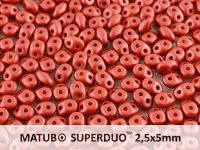 SuperDuo 2.5x5mm Satin Metallic Red - 10 g