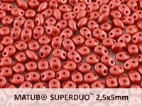 SuperDuo 2.5x5mm Satin Metallic Red - 10 g