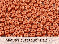 SuperDuo 2.5x5mm Satin Metallic Bronze - 10 g