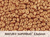 SuperDuo 2.5x5mm Satin Metallic Copper - 10 g