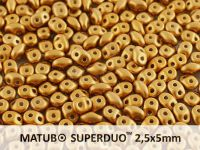 SuperDuo 2.5x5mm Satin Metallic Brass - 10 g