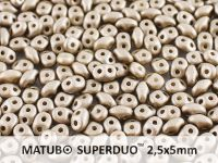 SuperDuo 2.5x5mm Satin Metallic Grey - 10 g